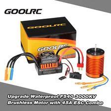 Waterproof F540 3000KV Brushless Motor w/ 45A ESC Combo Set for 1/10 RC Car H1B3