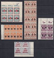 DANZIG GERMANY 1921-23, mixed set, with margins, blocks, CV €31, Emblems, MH/MNH