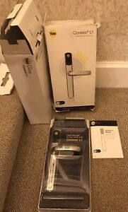 Conexis L1 Yale Smart Living Polished Chrome Door Lock. New.