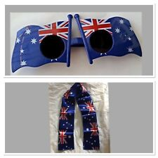 Australian National Flag SCARF And Sunglasses Australia Day Costume Party New