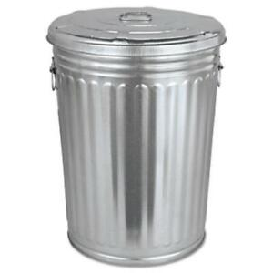 Magnolia Brush TRASHCAN20GAL Pre-galvanized Trash Can With Lid, Round, Steel,