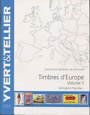 2015 French Yvert & Tellier Europe Postage Stamp Catalogue I-P Volume 3