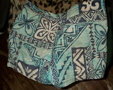 Nice loocking abstract print vintage Waltah Clark's aloha swim truncks-36-38 !