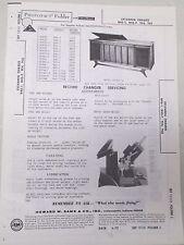 Sams Photofact Folder Radio Parts Manual Sylvania Chassis R45-1 R45-7 TC4 TC6