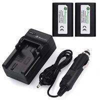 2X EN-EL1 Battery + Charger For Nikon Coolpix 4300 4500 4800 E880 5700 8700 5400
