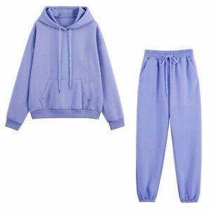 Women Tracksuits Two Pieces Set Hooded Oversized Sweatshirt Pants Hoodie Suits