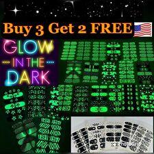 Nail Polish Stickers Strips Glow in the Dark Halloween B3G2 Free