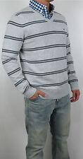 NWT Tommy Hilfiger Men V Neck Logo Classic Fit Striped Sweater Sweat Shirt