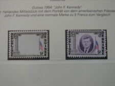 (BN21) GUINEA 1964 John F. Kennedy 5 Fr superb MNH MAJOR VARIETY: MISSING VIOLET