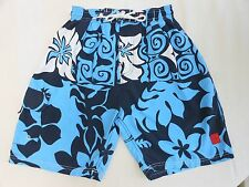 Boy's size Small Ocean Pacific (OP) Swim shorts, bright blue/white colors - GUC!