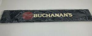 """Buchanan's Scotch Whiskey Bar Rail Mat Rubber Drip Spill Runner PVC -21"""" x 3.5"""""""