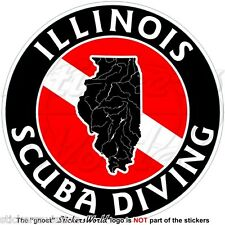 2 x I Love Scuba Diving Vinyl Sticker Travel Luggage #7404