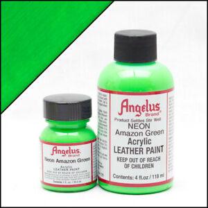 Angelus Acryl Lederfarbe Neon Amazon Grün (125) 29,5ml (20,17€/100ml) Leder
