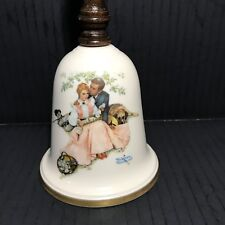 Gorham Fine China Collectible Bell Norman Rockwell, 1976 Loves Harmony