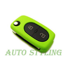 Green Key Cover Seat Skoda 2 Button Case Remote Fob Protector Bag Oval Hul 42Gre
