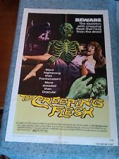 The Creeping Flesh 1972 Original 1 Sheet Movie Poster Christopher Lee  (VF-)