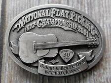Guitar Pick Belt Buckle Walnut Valley Bluegrass Festival 2001 Winfield KS 30th
