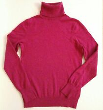 Banana Republic Red Silk Wool Cashmere Blend Turtleneck Wmns Small Petite S P