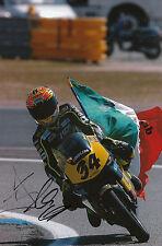 Andrea DOVIZIOSO hand signed scozzese RACING HONDA 12x8 FOTO 2004 125cc CHAMPION 4.