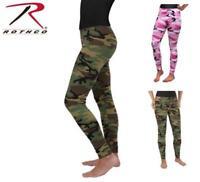 Womens Camo Leggings, Rothco Brand, 3298 Woodland Camo, 3188 Pink Camo XSM-2XL