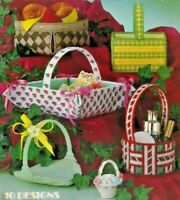 1982 Needlepoint Baskets For Plastic Canvas Pattern Book 10 Designs Crafts 6179F