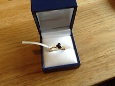 Sapphire 9ct Y Gold Ring Size N Solitaire