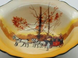 "Royal Doulton Antique Series Ware "" Coaching Day"" Master Bowl"