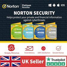 Norton Security Antivirus - 1, 3, 5, 10 Geräte 1 Jahr - 5 min Lieferung per Email