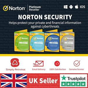 Norton Security Antivirus - 1, 3, 5, 10 Devices 1 Year - 5 min Delivery by Email