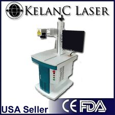20W Fiber Optic Marking / Engraving Laser with cabinet FDA NEW 2YR Warranty