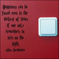 HARRY POTTER QUOTE TURN LIGHT SWITCH ON WALL ART STICKER CHOICE SIZES A5 A4 A3