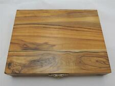 Ornamental Olive Wood Box for 3 Coins 30,37,37mm Size