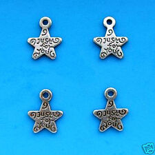 20 Tibetan Silver Charm Just For You Star Charms