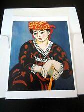 Carte de Voeux + Enveloppe - Henri Matisse. Madame Matisse, Madras Rouge