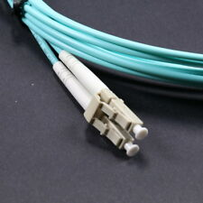 ! In Stock 5M LC-LC Duplex 50/125 Multimode 10 Gb Fiber Patch Cable Aqua OM3