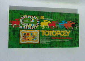 Vintage Totopoly 1978 Board Game Horse Race Racing Waddingtons Complete