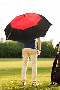 SCRATCHPLAY TOP QUALITY UMBRELLA VENTED DUAL CANOPY WIND RESISTANT GOLF SPORT