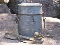 Vintage Old Pal Bait Bucket Galv. Fishing Advertising Lure Shoulder Strap Rare
