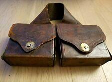 Antique Civil War Doctor Medical Saddle Bags Original Bottles Solid Leather