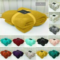 Super Soft Luxury Popcorn Throws Fleece Blanket Sofa Bed Warm Large Settee