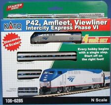 KATO 1066285 N P42 Amfleet Intercity Exp Phase VI LOCO & 3 CARS 106-6285