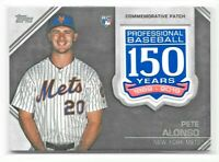 2019 Topps Update Pete Alonso 150 Year RC Patch New York Mets - Combined Ship!