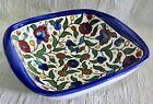 """Hand Painted Vintage Bowl Candy Dish Made In Portugal 7"""" Floral Decor"""