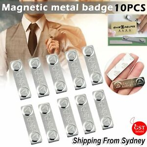 10pcs  Magnetic Name Badge Tag Fastener Attachment Self Adhesive Strong Magnet A