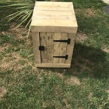 CABINET BUILT OUT OF RECYCLED TIMBER