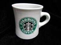Starbucks Coffee Retro Heavy White Diner Restaurant Style Mug With Mermaid Logo