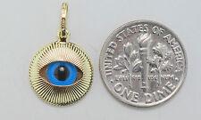 14K gold evil eye charm / pendant