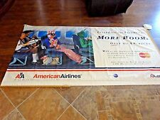 American Airlines Large Vinyl Banner / Sign 8' x 4' Uncle Sam Statue of Liberty