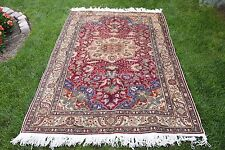 Turkish Anatolian High Quality Hand Knotted Kayseri Oushak Carpet Area Rug 5'x7'