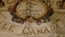 Hermes Soie écharpe, Samuel de Champlain le Canada < par Oliver Kermit, Neuf + Boîte